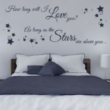 How Long Will I Love You ~ Wall sticker / decals